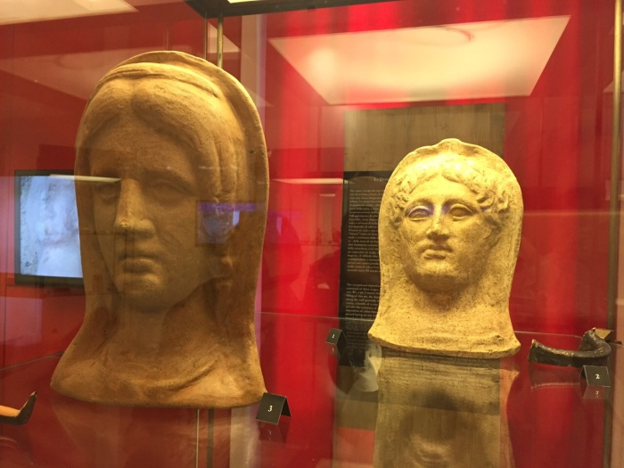 votive heads from Narce, used with permission of Jacopo Tabolli