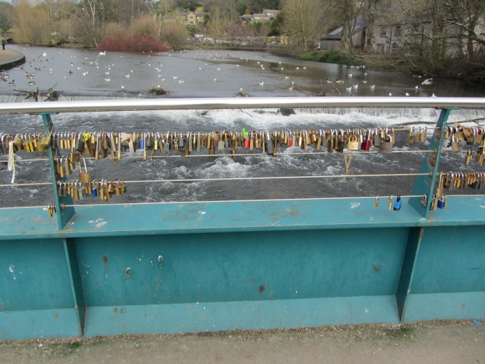 Love-locks in Bakewell, UK, 01.2014