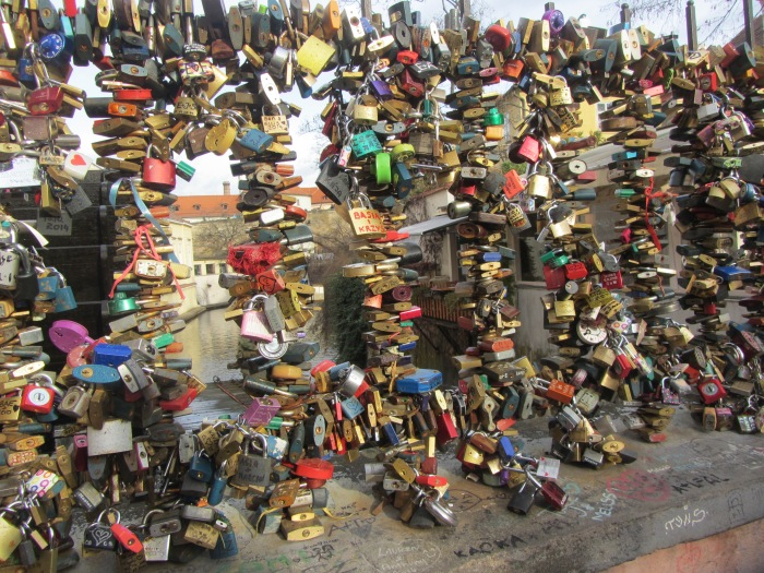 Love-locks in Prague, Czech Republic, 12.2014