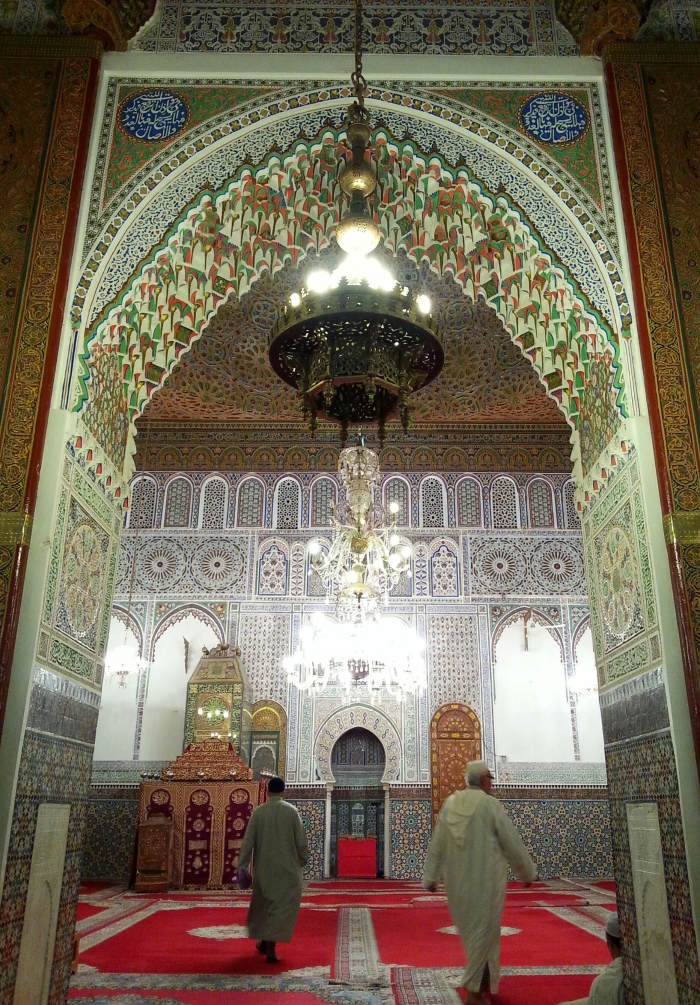 The mausoleum of Mulay Idriss II, the founder and patron saint of Fes