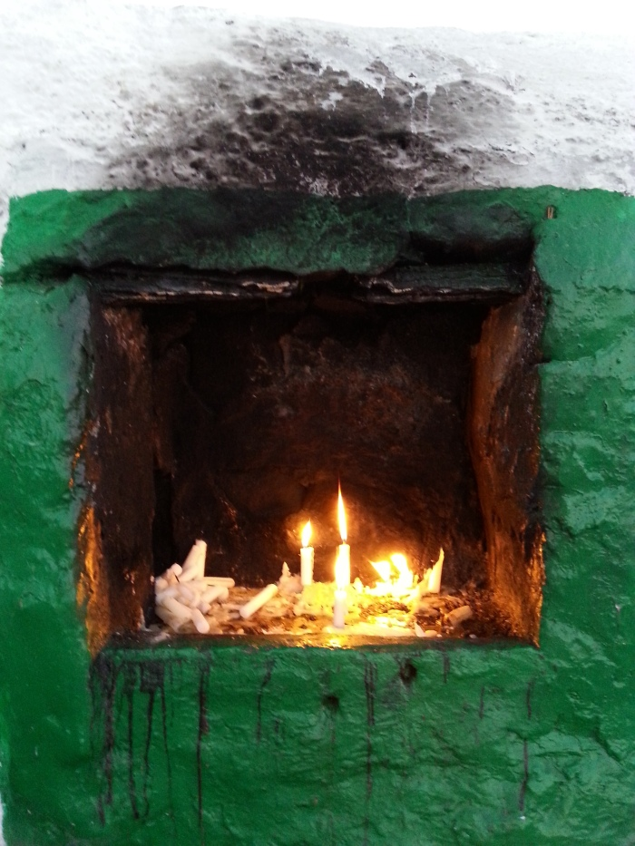 A votive offering at the tomb of Abdul Salaam ibn Mashish, an important wali of Morocco
