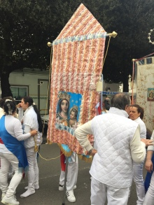 Banner carried by fujenti