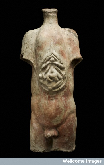 Votive male torso (Wellcome Images).