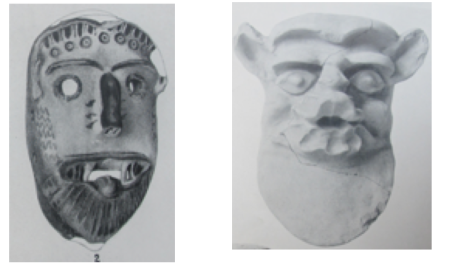 Left: Gorgon (Dickins 1929: pl.56). Right: Satyr (Dickins 1929: pl.62).