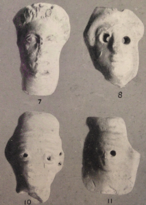Miniature terracotta masks (Dickins 1929: pl.38)