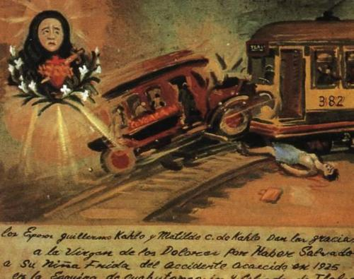 Ex Voto, altered by Frida Kahlo to look like her accident
