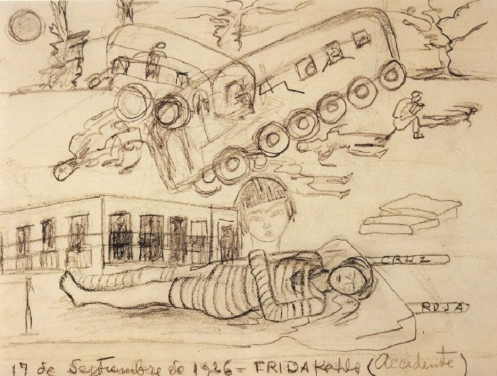 Frida Kahlo's drawing 'The Accident'