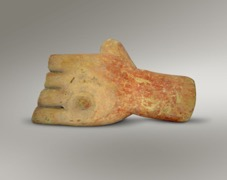 Figure 3 Anatomical votive, hand (V41) from Asclepieion or Lerna, Corinth (Foto: ASCSA.net)